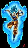 Dragon Ball Super - Goku D 36x48 Inches Satin Material Poster For Office, Schools   Walls, Doors, Study Rooms, Bedrooms, Halls   Inspirational Motivational Quotes Signs-Sayings   Animes, Sports, Games, TV Series, Anime, Music   Matte Finish   High-Quality Imported Premium Satin Material With Digital HD Printing
