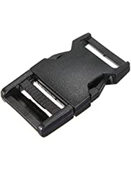 10pcs boucles plastiques clips paracord pour sangle fermoir bracelet paracorde noir 25mm