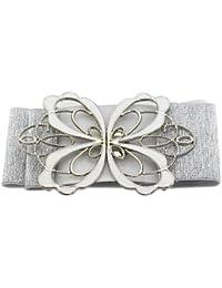 BONAMART ® Mode Damen Bow-Knoten Elastisches Stoff Breit Gürtel Belt