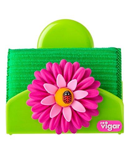 vigar Porte-Eponge, ABS, Rose, 13 x 11,5 x 7 cm, 6 unités