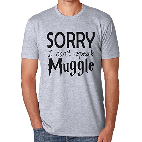 Sorry I Don't Speak Muggle Harry Potter HP Herren T-Shirt Grau