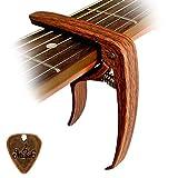 Cantus Capotasto per chitarra in lega di zinco color legno con Pin Puller