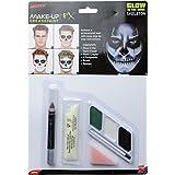 Smiffys  -  SM43964  -  Kit Maquillage Squelette Phosphorescent -  Taille Unique