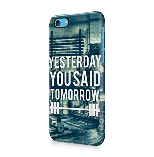 Excuses Dont Burn Calories Apple iPhone 5 / iPhone 5S / iPhone SE SnapOn Hard Plastic Phone Protective Custodia Case Cover Yesterday You Said