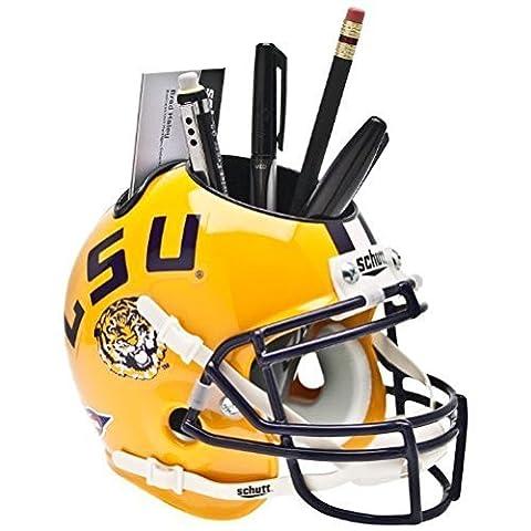 LSU TIGERS NCAA Schutt MINI Football Helmet OFFICE PEN/PENCIL/BUSINESS CARD HOLDER LOUISIANA STATE by Schutt