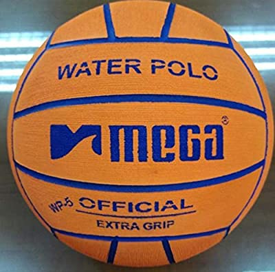 Water Polo Ball. Mega. Diseño en color naranja. Tamaño 5