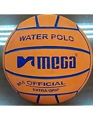 Water Polo Ball. Mega. Diseño en color naranja. Tamaño 5