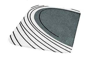 Kleine Wolke 4023901225 Hawaii Tapis de Bain Polyacrylique Anthracite 70 x 120 x 2,0 cm