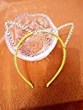 Headband for Girls,Cat Ears,light yellow
