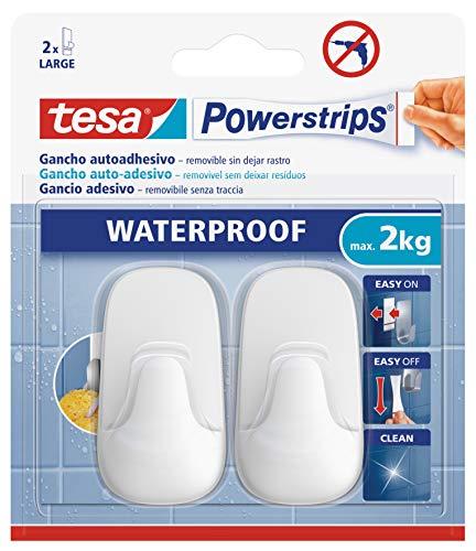 Tesa 59781 Ganchos plástico Grandes Powerstrips Waterproof