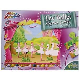 Puzzle pour enfant - motif Le lac des cygnes - ballet danse classique