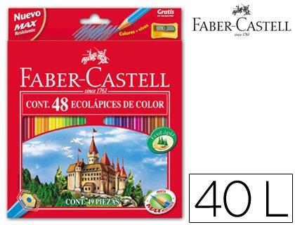 Faber-Castell 120148 – Pack de 48 lápices y sacapuntas