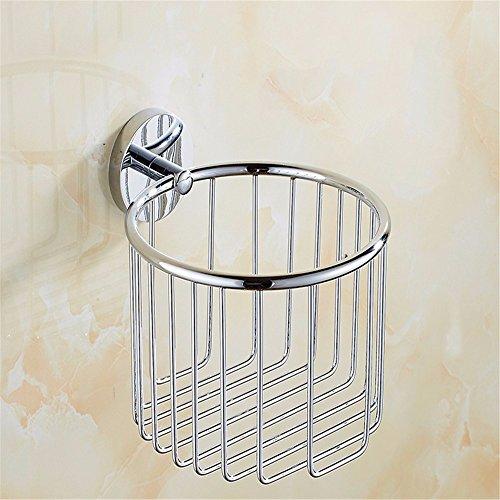 LOSTRYY Bad-WC-Papier Rollen Fach Toilettenpapier Halter Bad Handtuchhalter,Chrom -