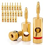 [24 piezas] deleyCON Kit Conectores Banana Sets / bafles / amplificadores / receptores AV / transformadores de salida / hi-fi / equipos stereo