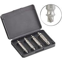 AGT Professional Schraubenausdreher: 4-tlg. Schrauben-Ausdreher-Set aus HSS-Stahl für beschädigte Schrauben (Linksausdreher)