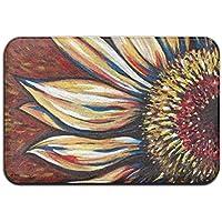 diyabcd girasol arte Floral Doormats antideslizante para casa jardín puerta alfombra Felpudo piso almohadillas