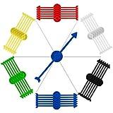 Biubee 30 Pcs Assortie Couleur Jeu Spinners - Jeu de flèche en Plastique Fournitures...