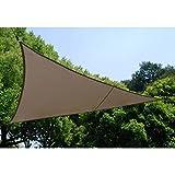 Toile solaire Voile d'ombrage triangulaire 4 x 4 x 4 m en tissu déperlant - Coloris...