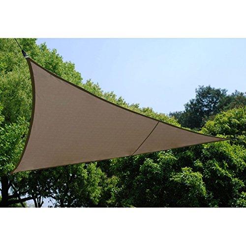 Toile solaire Voile d'ombrage triangulaire 4 x 4 x 4 m en tissu déperlant - Coloris TAUPE
