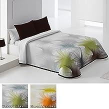 Colcha de Piqué Modelo Lavanda, Color VERDE (C/04), Medida Cama de 90 · 180x260cm