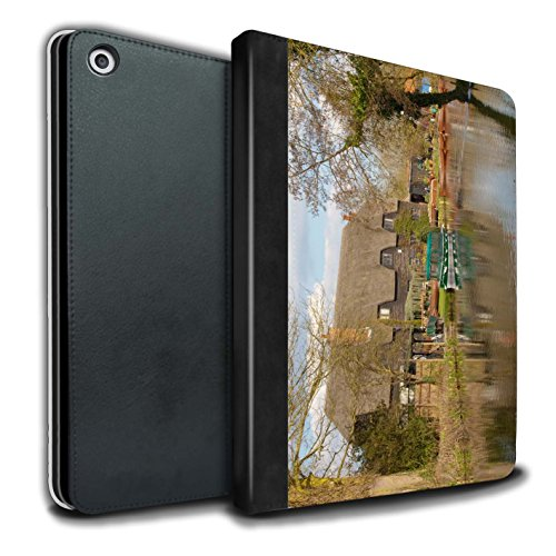 STUFF4 PU-Leder Hülle/Case/Brieftasche für Apple iPad 9.7 (2017) tablet / Hütte Muster / Britischen Küste Kollektion