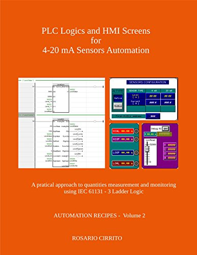 PLC Logics and HMI Screens for 4-20 mA Sensors Automation: A pratical approach to quantities measurement and monitoring using IEC 61131 - 3 Ladder Logic (AUTOMATION RECIPES Book 2) (English Edition) -