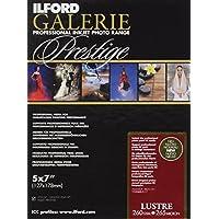 Ilford Galerie Prestige Lustre - Pack 100 Hojas de Papel (13x18 cm) Color Blanco
