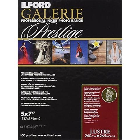 Ilford Prestige Lustre-Carta fotografica, 260 g, 13 x 18, 100 fogli