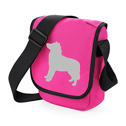 Bag Pixie - Borsa a tracolla unisex adulti Grey Dog Pink Bag