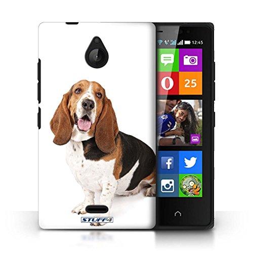 Kobalt® Imprimé Etui / Coque pour Nokia X2 Dual Sim / Bull Terrier conception / Série Chiens Basset Hound