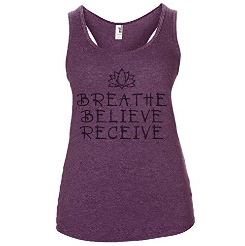 DesignDivil Damen T-Shirt One size Heather Aubergine