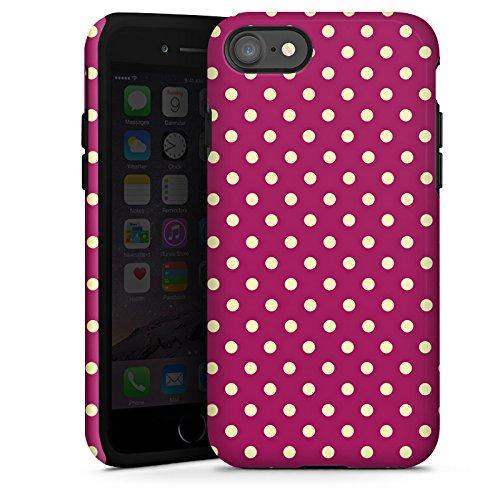 Apple iPhone X Silikon Hülle Case Schutzhülle Punkte Muster Polka Tough Case glänzend