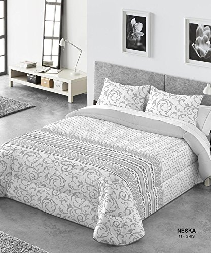 Comforter Kabely Neska Ropa de Cama, Poliéster, Gris, 250x270x3 cm
