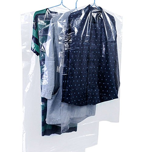 Dealglad-Aufbewahrungsbeutel für Kleider, Kunststoff, staubdicht, transparent, 10 Stück, plastik, durchsichtig, 60 x 120cm - Thicken