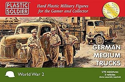 Plastic Soldier Company - World War II German Medium Trucks (3) (1/72 scale)