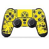 DeinDesign Sony Playstation 4 Controller Folie Skin Sticker aus Vinyl-Folie Aufkleber Borussia Dortmund BVB Fanartikel