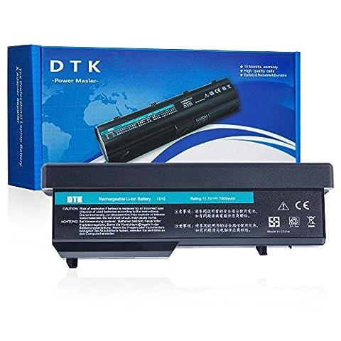 Dtk® Nouvelle Batterie de Rechange pour Ordinateur Portable Dell Vostro Pp36s Pp36l 1320 2510 1310 1510 Series, Fits P/n K738h T112c T114c T116c U661h N958c 312-0725 [Li-ion 9-cell 11.1v 6600mah/85wh]