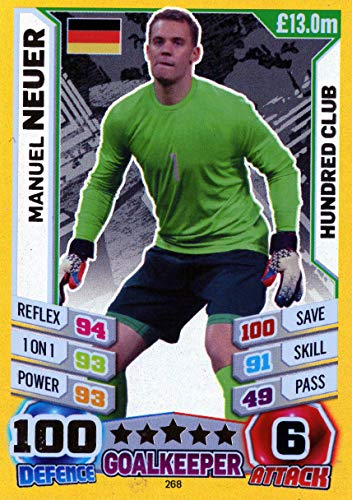 2014 - Manuel Neuer Hundred (100) Club Trading Card #268 - World Cup ()