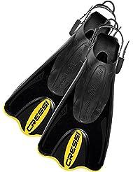 Cressi Palau Saf - Aletas, color negro / amarillo, talla L-XL (44-47)