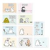 10 er Set lustige Postkarten, lustige Geburstagskarten, Sprüche, witzig, für Männer und Frauen, Katze, Eule, NÖ, nicht lustig, Mist