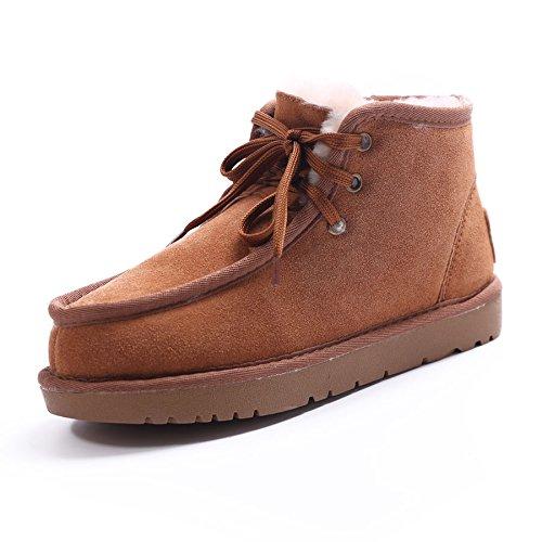 Heart&M Spessore caldo inverno nuovo stile lana amanti breve stivali di pelle neve piatto casual stivali a