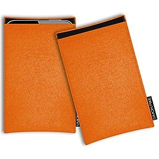 SIMON PIKE Samsung Galaxy S7 felt case ultra slim case 'Boston' in orange 1, custom made felt protection case from 100% wool felt