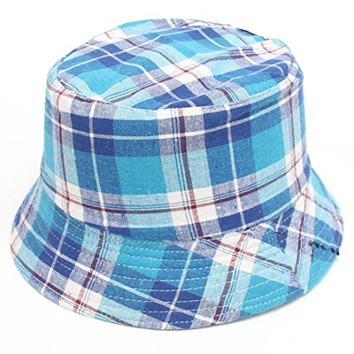 f1dd714959a Kolylong Toddler Baby Bucket Hat ✿ Kids Boys Girls Plaid Pattern Cap  Breathable Sun Hat Fisherman s