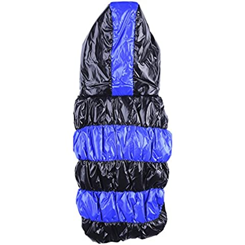 Perro Mascota Ropa impermeable y resistente al viento con capucha abrigo de invierno ropa de abrigo Outwear Azul S / M / L / XL /