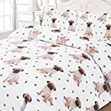 Mpse-Paws-Bone-Cute-Pug-Puppy-Cute-Wachhund-Quilt-Bettbezug-Bettwsche-Set