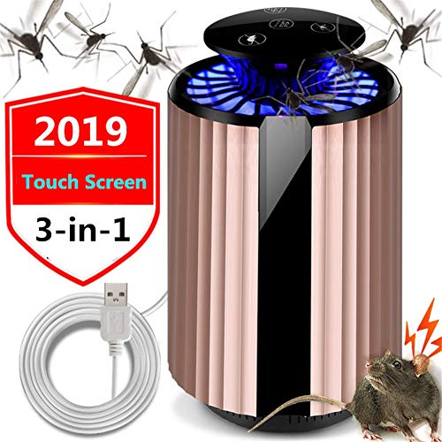FOOSKOO Mosquito Mückenkiller Insektenvernichter LED-Mückenlampe Fly Kille 365 Smart Electric UV-Thermo-USB-Mücken Inhalator Insektenfalle für Kleinkinder, Kinder, Schwangere