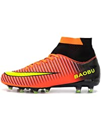 e56015ca73202 LANSEYAOJI Football Boots High Top Soccer Shoes Mens Boys Professional  Spikes Football Shoes Training Shoes Teenagers Outdoor Football…