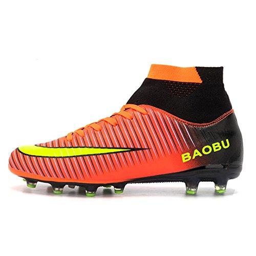 LANSEYAOJI Zapatos de fútbol Hombre Niños AG Spike Profesionales Botas de  Fútbol Aire Libre Atletismo Zapatos b5c09f93a6f07