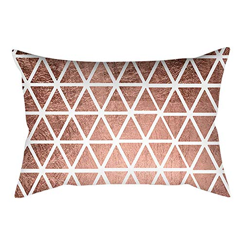 Xmiral Kissenbezüge Rose Gold Rosa Pillowcase Square Home Sofakissen Dekoration(H)