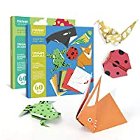 DecoBay Animal Origami Paper 60 Sheets (Animal) Deluxe Packaging Perfect